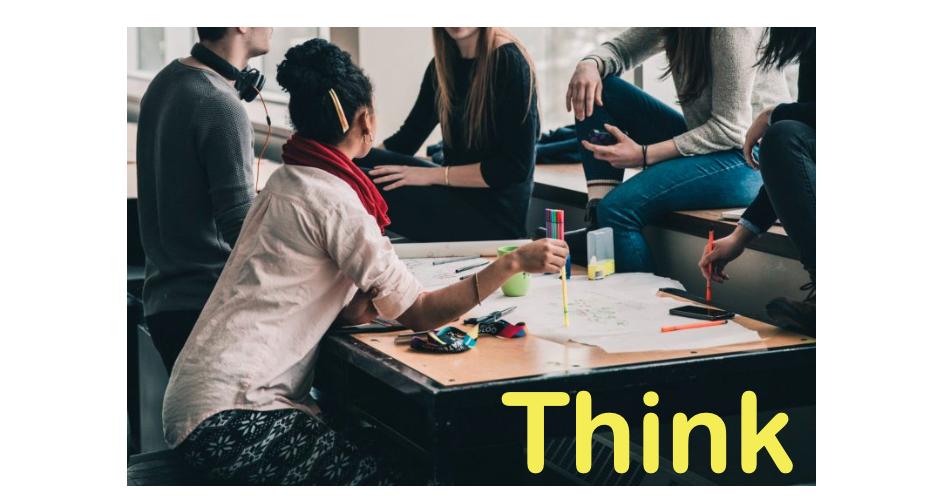 「Think」で楽しい事を考える。